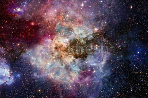 Stock photo: Nebula and stars in outer space. Elements of this image furnished by NASA.