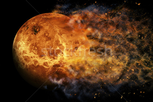 Stock photo: Planet Explosion - Venus. Elements of this image furnished by NASA