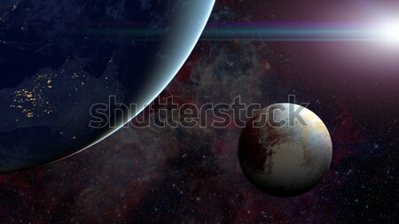 Solar System - Pluto. Science background. Stock photo © NASA_images