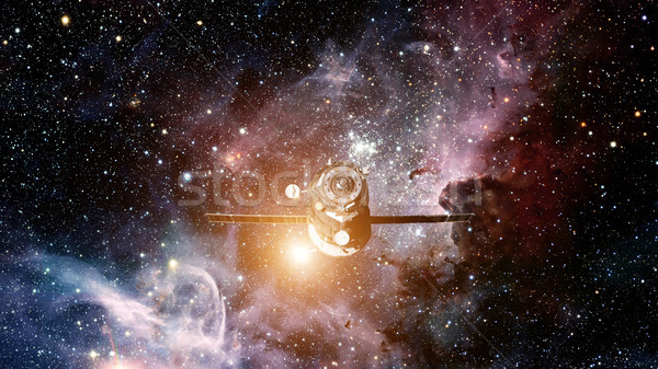 Spacecraft Progress orbiting the space. Stock photo © NASA_images