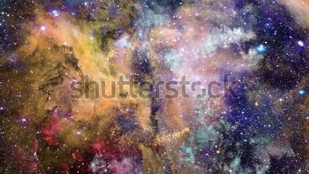 Bölcs kilátás rejtett galaxisok mozaik képek Stock fotó © NASA_images