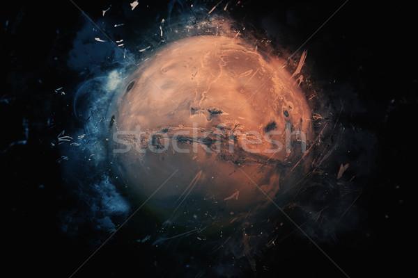 Bolygó művészet elemek kép tudományos fantasztikum naprendszer Stock fotó © NASA_images