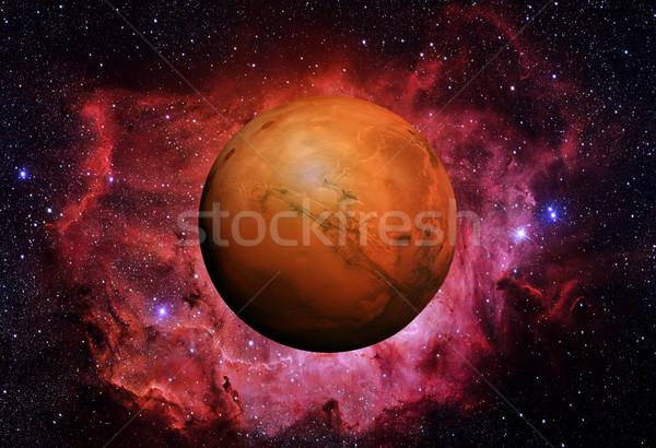 Sistema solar quarto planeta sol fino atmosfera Foto stock © NASA_images