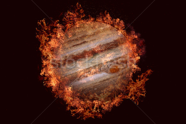 Planet in fire - Jupiter. Science fiction art. Stock photo © NASA_images
