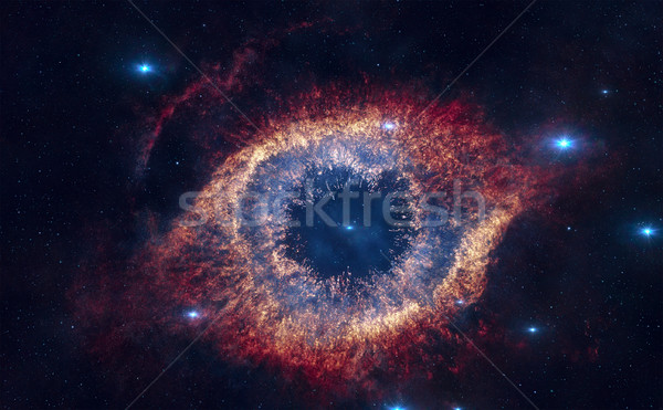 Helix Nebula is a large planetary nebula located in the constell Stock photo © NASA_images