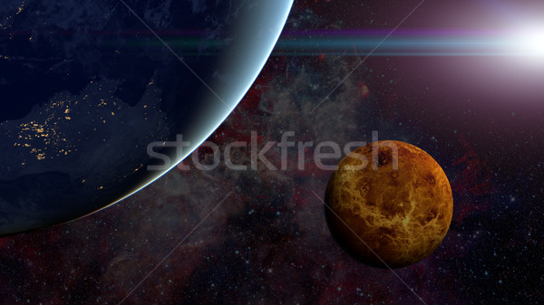 Solar System - Venus. Science background. Stock photo © NASA_images
