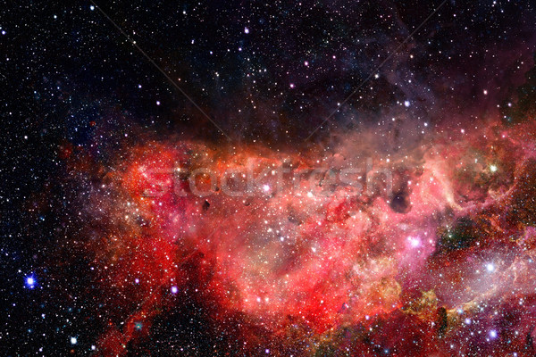 Nebula and galaxies in dark space. Elements of this image furnished by NASA. Stock photo © NASA_images