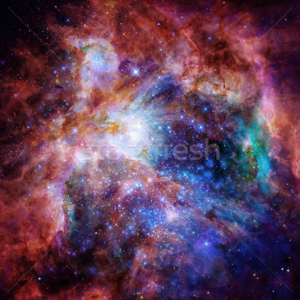Universe filled with nebula, stars and galaxy. Stock photo © NASA_images