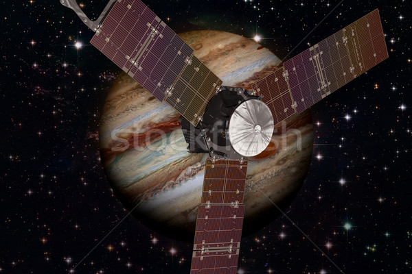 Juno spacecraft and Jupiter. Stock photo © NASA_images