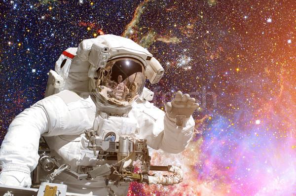 Сток-фото: астронавт · космическое · пространство · галактики · звезды · Элементы · изображение