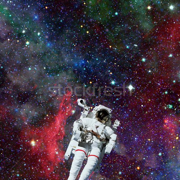 Astronot uzay boşluğu nebula elemanları görüntü adam Stok fotoğraf © NASA_images