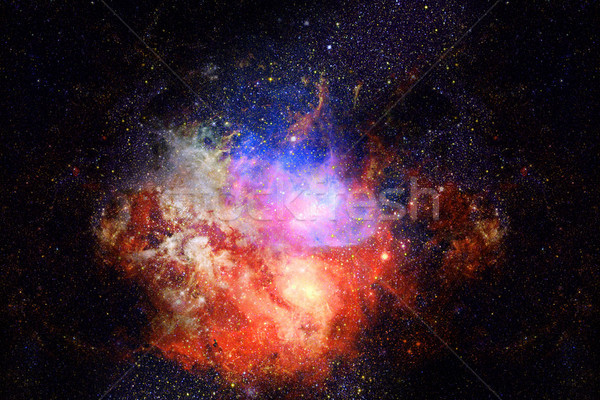 Nebula and galaxy in space. Elements of this image furnished by NASA. Stock photo © NASA_images