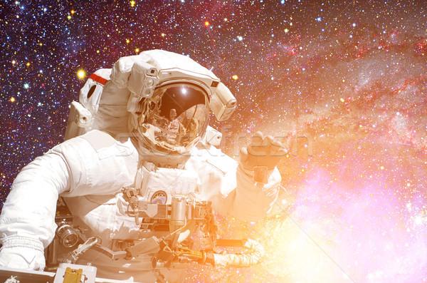 宇宙飛行士 宇宙 背景 要素 画像 空 ストックフォト © NASA_images