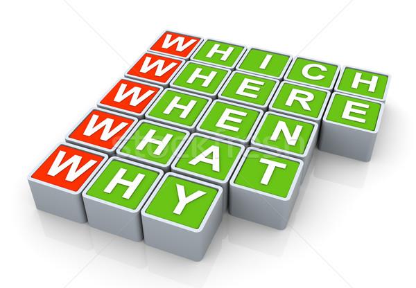 3d questions words Stock photo © nasirkhan