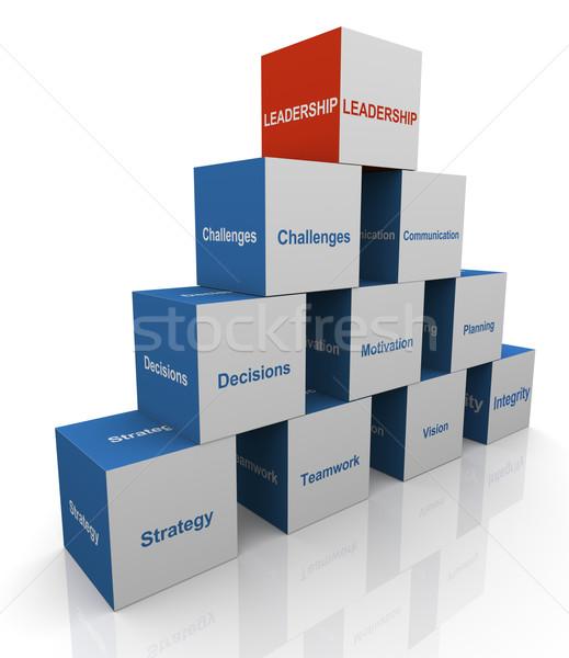 3d leadership pyramid Stock photo © nasirkhan