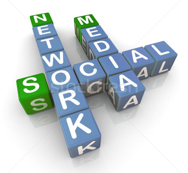 3d social media network Stock photo © nasirkhan
