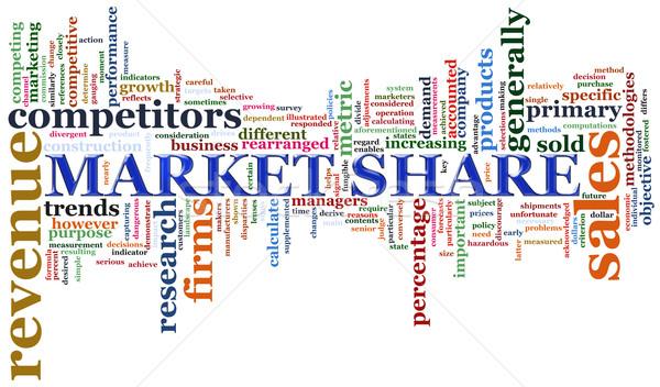 Piac címkék illusztráció szófelhő üzlet internet Stock fotó © nasirkhan