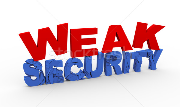 3d word weak security Stock photo © nasirkhan