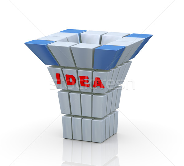 3d word idea abstract cubes structure Stock photo © nasirkhan