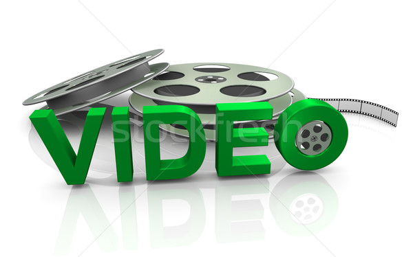 3d movie reel Stock photo © nasirkhan