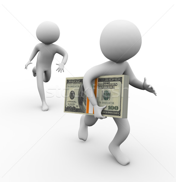 3d thief stealing money Stock photo © nasirkhan