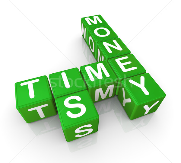 Время-деньги 3d визуализации бизнеса деньги знак веб Сток-фото © nasirkhan