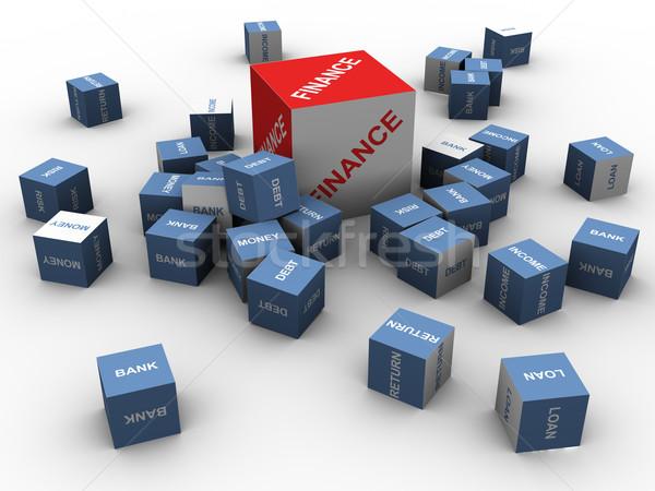 3D financieren woord 3d render woorden tekst Stockfoto © nasirkhan