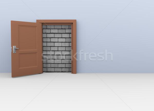 3d door to no way Stock photo © nasirkhan