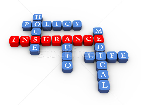 Crossword of insurance policy concept Stock photo © nasirkhan