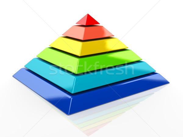 3D pirámide 3d colorido negocios modelo Foto stock © nasirkhan