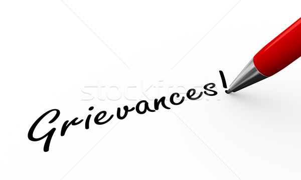 3d pen writing grievances illustration Stock photo © nasirkhan
