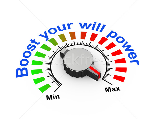 3d knob - boost your will power Stock photo © nasirkhan