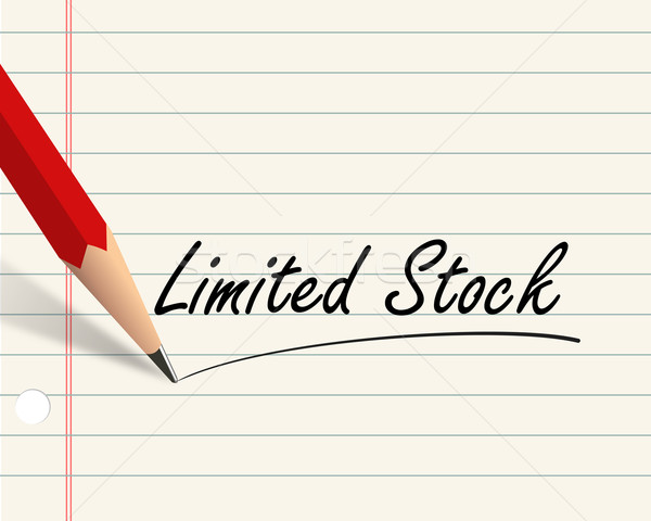 Pencil paper - limited stock Stock photo © nasirkhan