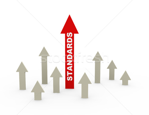 3d concept of rising standards Stock photo © nasirkhan