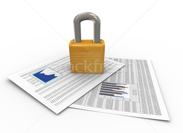 Protection of documents Stock photo © nasirkhan