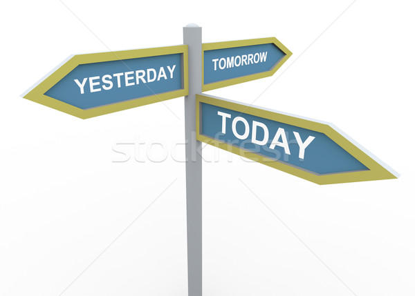 Tomorrow, yesterday and today Stock photo © nasirkhan