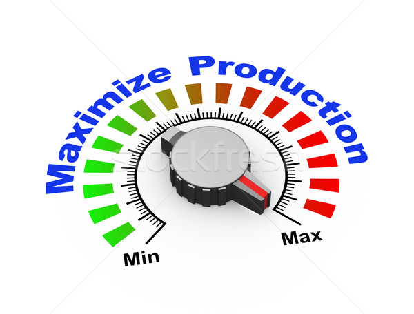 3d knob - maximize production Stock photo © nasirkhan