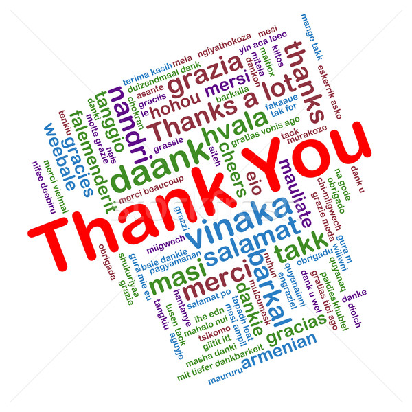 Thank you word tags wordcloud Stock photo © nasirkhan