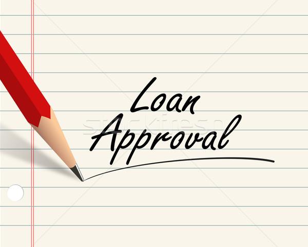 Pencil paper - loan approval Stock photo © nasirkhan