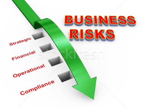 Illustration of business risks management Stock photo © nasirkhan