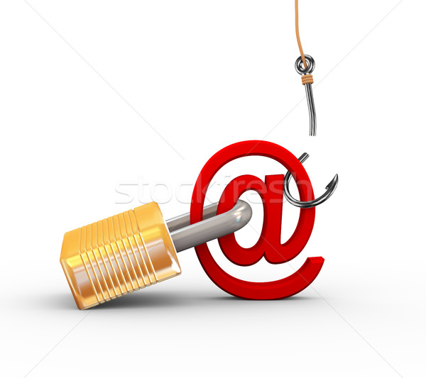 3d failed attempt of phishing Stock photo © nasirkhan