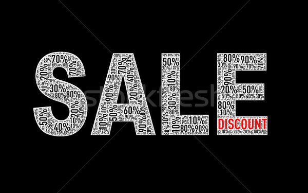Special sale percentage discount wordcloud Stock photo © nasirkhan