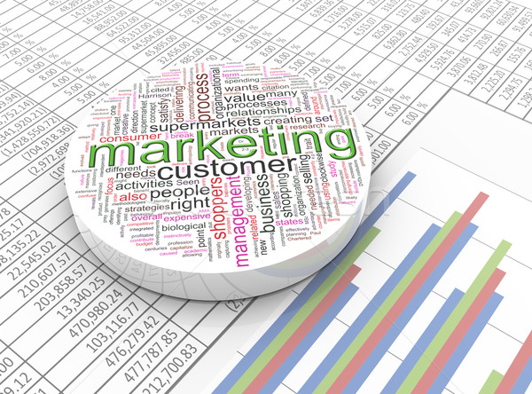 3d marketing wordcloud Stock photo © nasirkhan