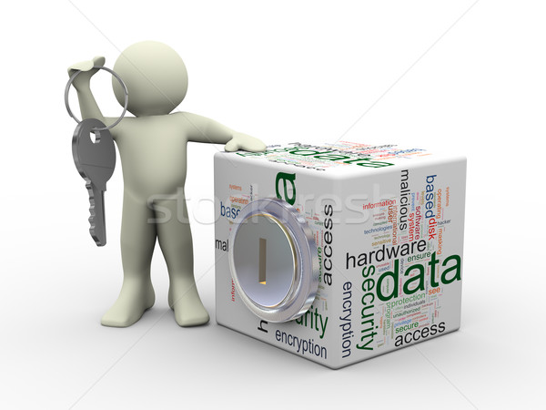 Man and data protection concept Stock photo © nasirkhan