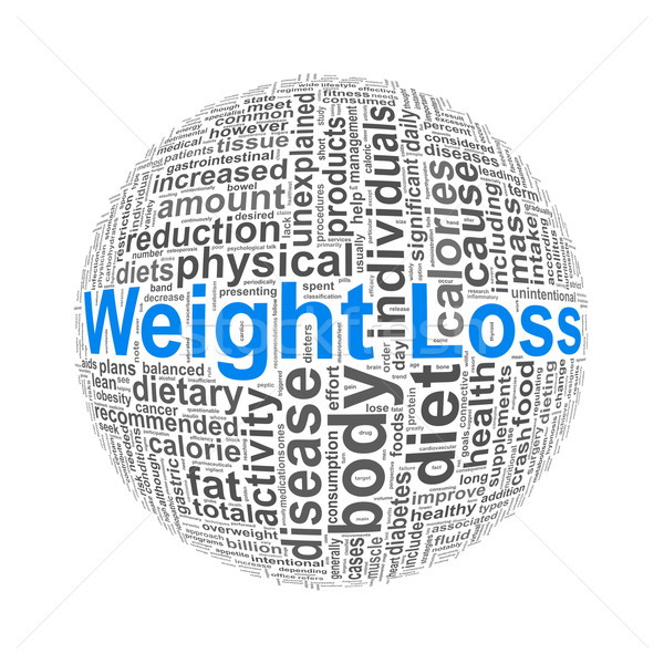 Wordcloud word tags ball of weight loss Stock photo © nasirkhan