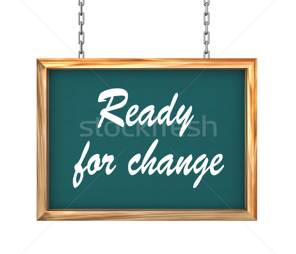 Stock photo: 3d hanging banner - ready for change