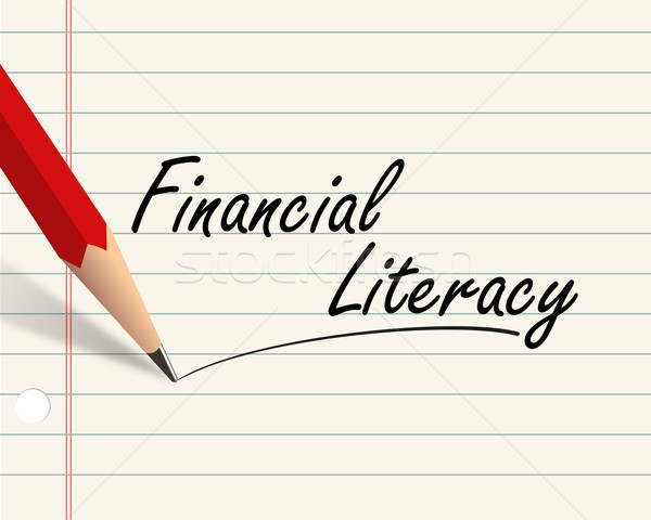 Pencil paper - financial literacy Stock photo © nasirkhan