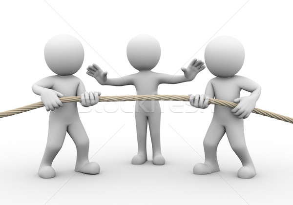 3d tug of war among people Stock photo © nasirkhan