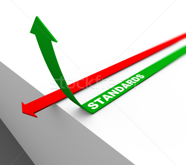 3d rising standards arrow Stock photo © nasirkhan