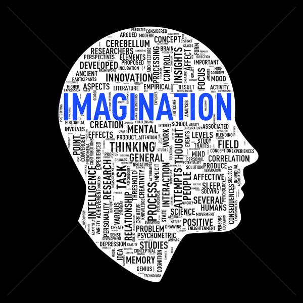 Humanismo cabeça imaginação cara Foto stock © nasirkhan